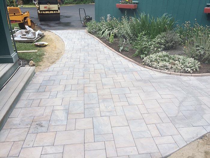 paver walkway hardscape