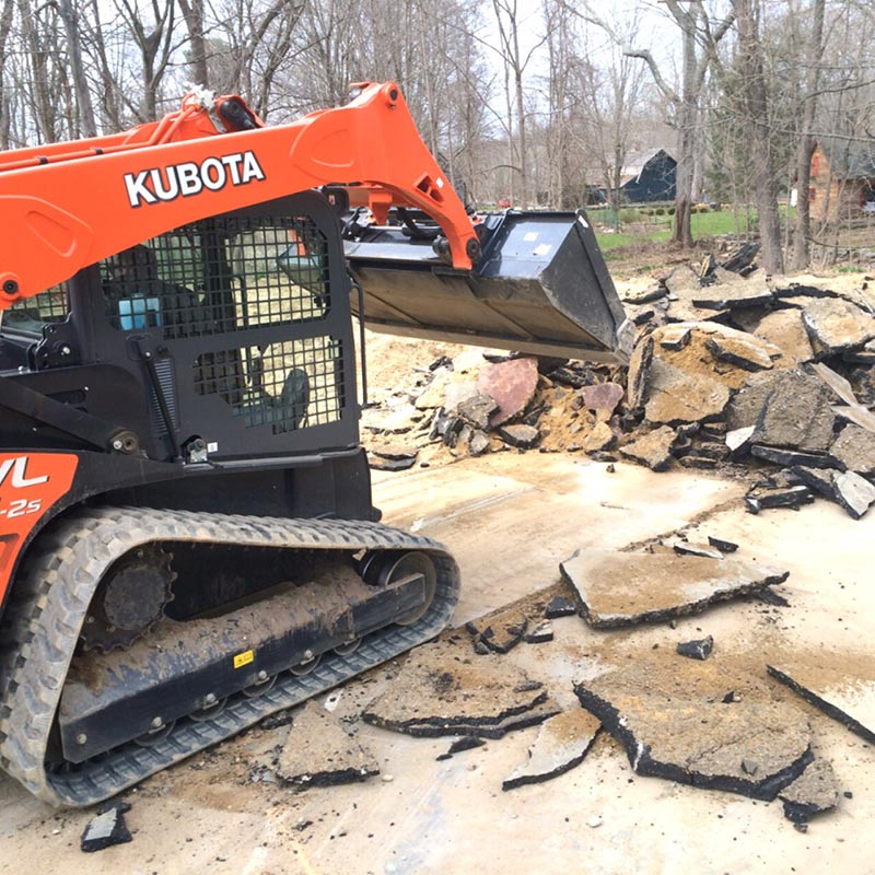 excavation, tennis court removal