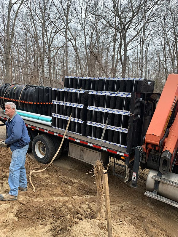 andover ct septic field and tank installation