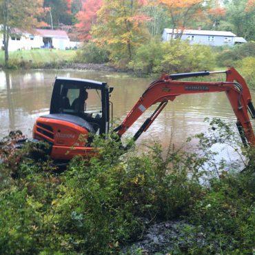 october pond excavation