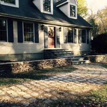residential stone wall storrs